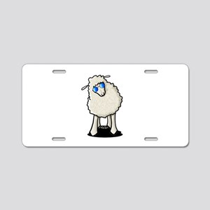 Sheepish Curiosity Aluminum License Plate