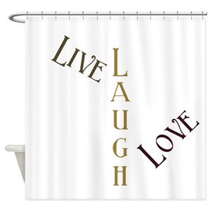 Live Love Laugh Shower Curtains
