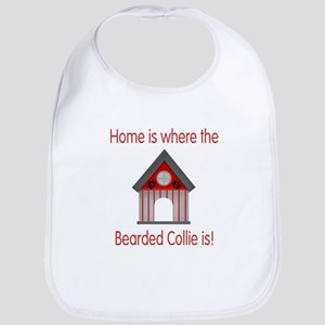 Home is where the Bearded Collie is Bib