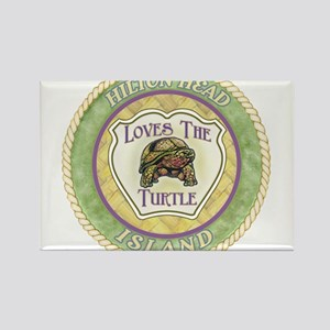 Hilton Head Turtle Rectangle Magnet