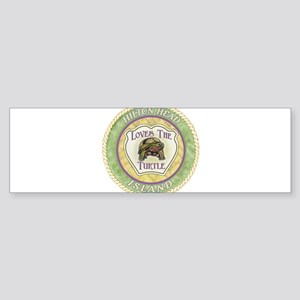 Hilton Head Turtle Sticker (Bumper)