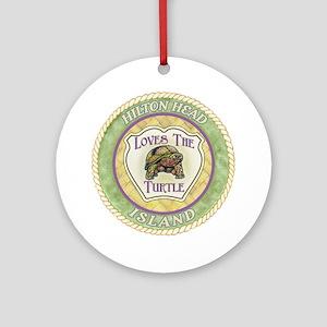 Hilton Head Turtle Ornament (Round)