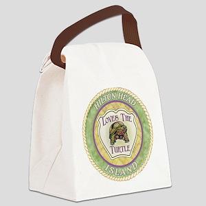 Hilton Head Turtle Canvas Lunch Bag