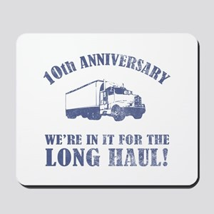 10th Anniversary Humor (Long Haul) Mousepad
