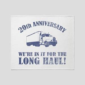 20th Anniversary Humor (Long Haul) Throw Blanket