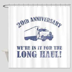 20th Anniversary Humor (Long Haul) Shower Curtain