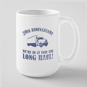 20th Anniversary Humor (Long Haul) Large Mug