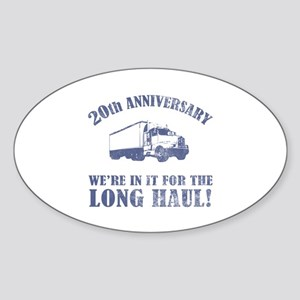 20th Anniversary Humor (Long Haul) Sticker (Oval)