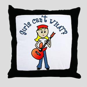Light Guitar Throw Pillow