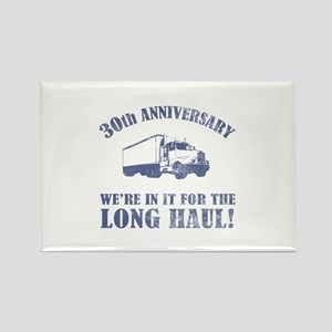 30th Anniversary Humor (Long Haul) Rectangle Magne