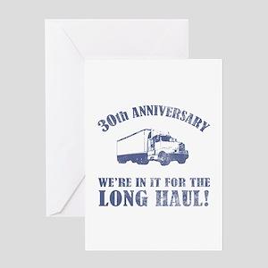 30th Anniversary Humor (Long Haul) Greeting Card