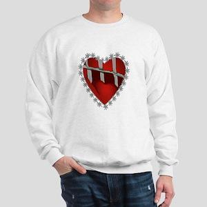 Caged, Barbed Heart Sweatshirt