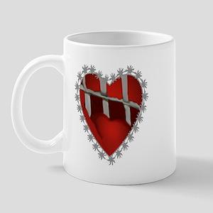 Caged, Barbed Heart Mug