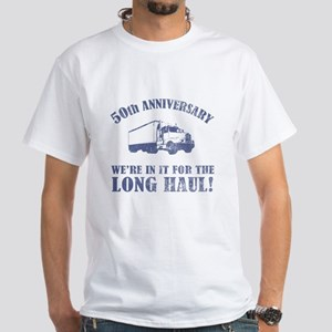 50th Anniversary Humor (Long Haul) White T-Shirt