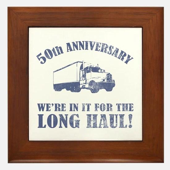 50th Anniversary Humor (Long Haul) Framed Tile
