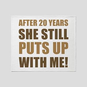 20th Anniversary Humor For Men Throw Blanket