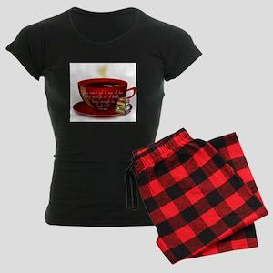 Tea Quote Women's Dark Pajamas