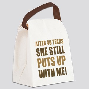 40th Anniversary Humor For Men Canvas Lunch Bag