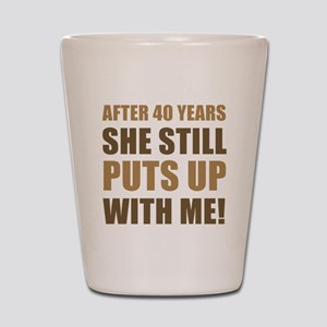 40th Anniversary Humor For Men Shot Glass