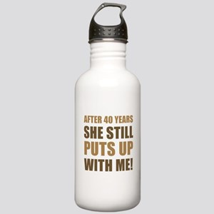 40th Anniversary Humor For Men Stainless Water Bot