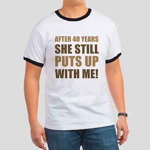 40th Anniversary Humor For Men Ringer T