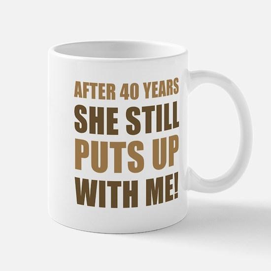 40th Anniversary Humor For Men Mug