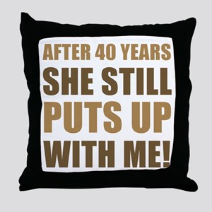 40th Anniversary Humor For Men Throw Pillow