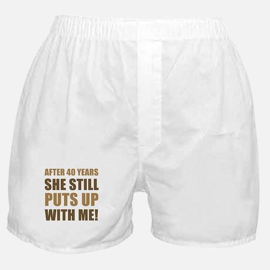 40th Anniversary Humor For Men Boxer Shorts