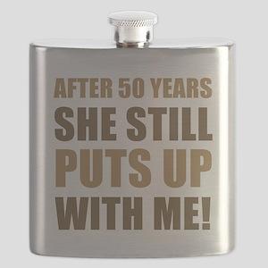 50th Anniversary Humor For Men Flask