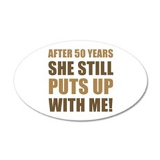 50th Anniversary Humor For Men Wall Decal