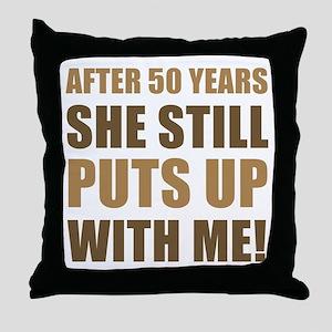 50th Anniversary Humor For Men Throw Pillow