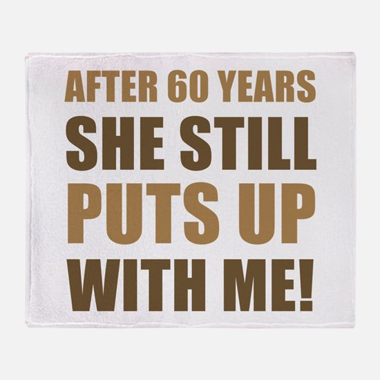 60th Anniversary Humor For Men Throw Blanket