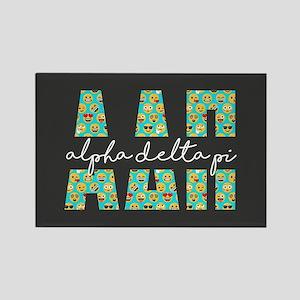 Alpha Delta Pi Letters Emoji Rectangle Magnet
