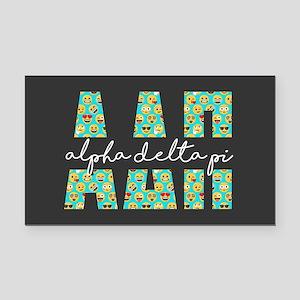 Alpha Delta Pi Letters Emoji Rectangle Car Magnet