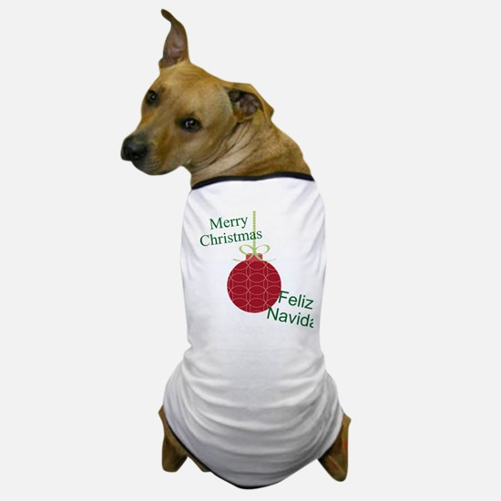 Merry Christmas Feliz Navidad Dog T-Shirt