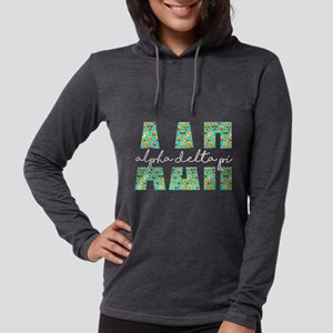 Alpha Delta Pi Letters Emoji Womens Hooded Shirt