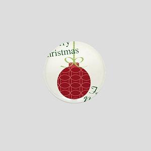 Merry Christmas Feliz Navidad Mini Button
