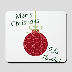 Merry Christmas Feliz Navidad Mousepad