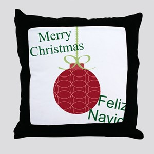 Merry Christmas Feliz Navidad Throw Pillow