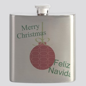 Merry Christmas Feliz Navidad Flask