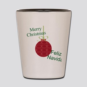 Merry Christmas Feliz Navidad Shot Glass
