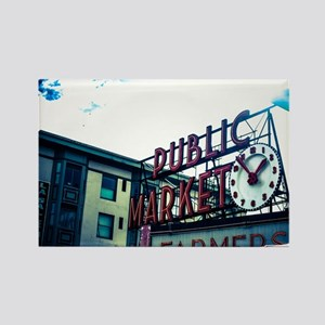Pike Place Market Rectangle Magnet