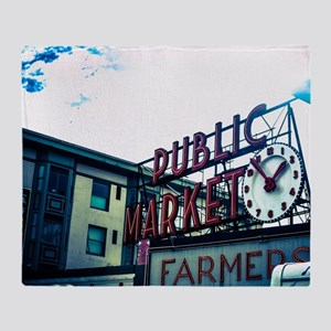 Pike Place Market Throw Blanket