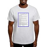 Covenant-French front-Plain back, Ash Grey T-Shirt