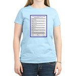 Covenant in French on Women's Light T-Shirt
