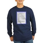 Covenant in French on Long Sleeve Dark T-Shirt