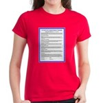 Covenant in French on Women's Dark T-Shirt