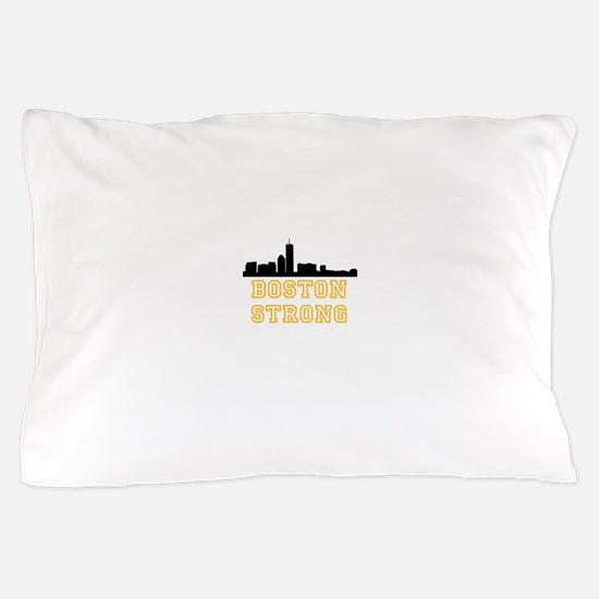 BOSTON STRONG GOLD AND BLACK Pillow Case
