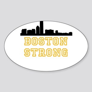 BOSTON STRONG GOLD AND BLACK Sticker