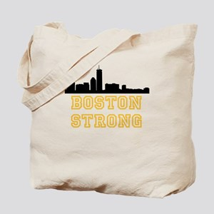 BOSTON STRONG GOLD AND BLACK Tote Bag
